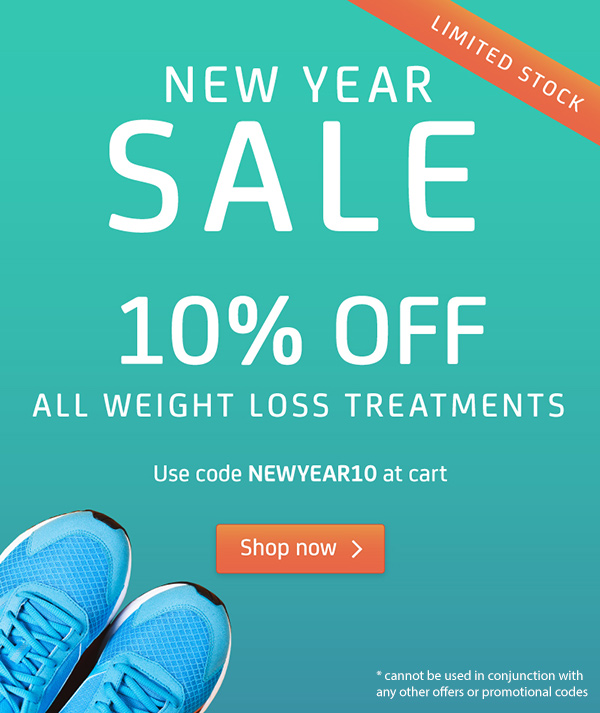 NEW YEAR SALE 10% OFF all weight loss medication. Use code NEWYEAR10